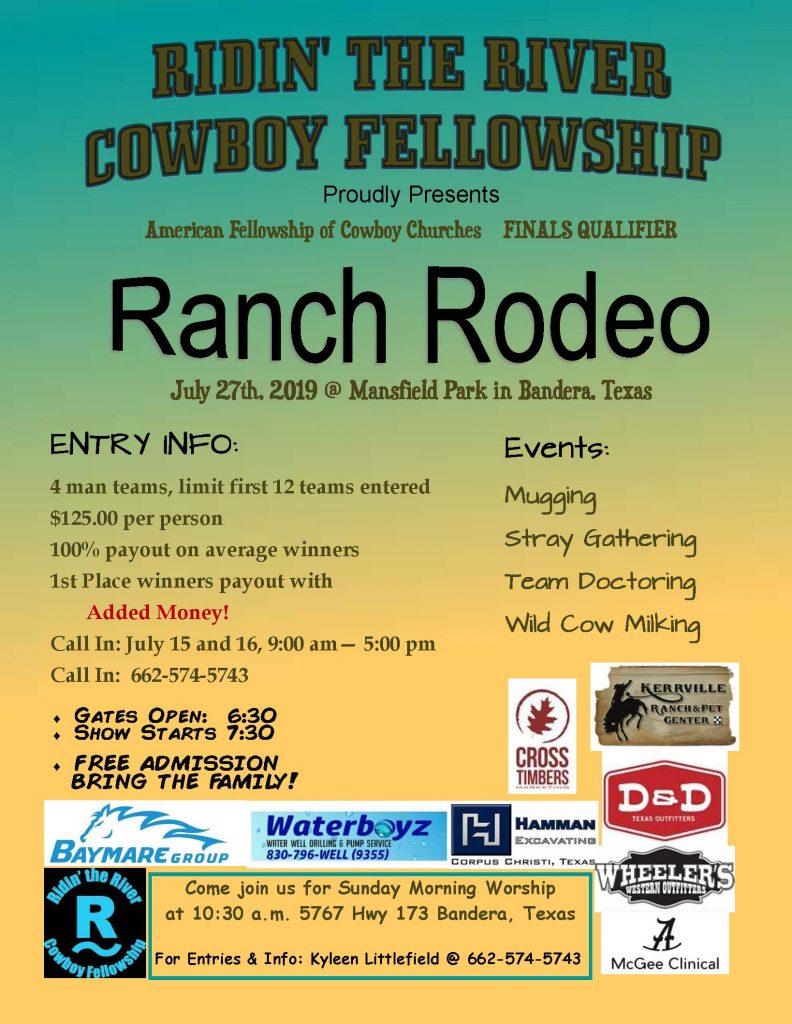 Ridin' the River Cowboy Fellowship Ranch Rodeo